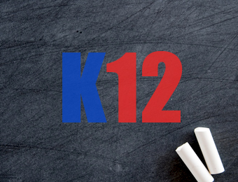 """K12"" written on blackboard"