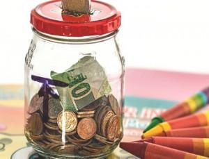 savings and crayons
